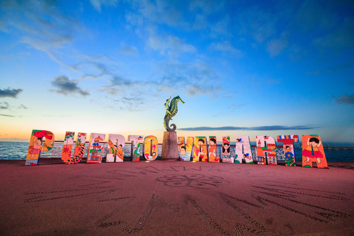 The Letters on the new section of the Malecon in Puerto Vallarta