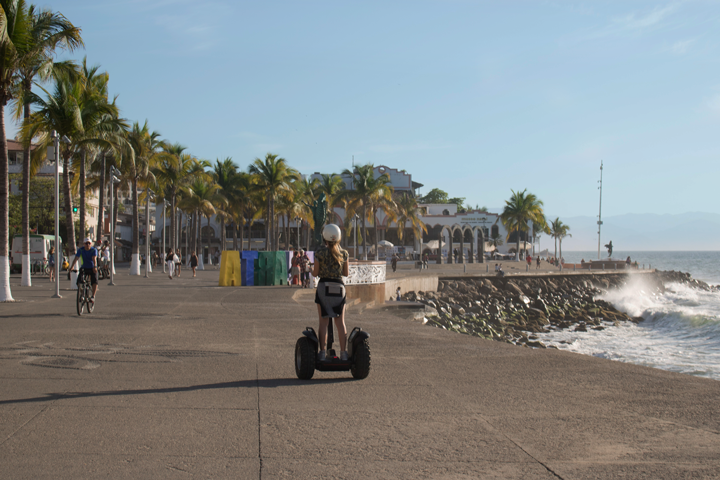 Riding a Bicycle or Segway at the Malecon in Puerto Vallarta