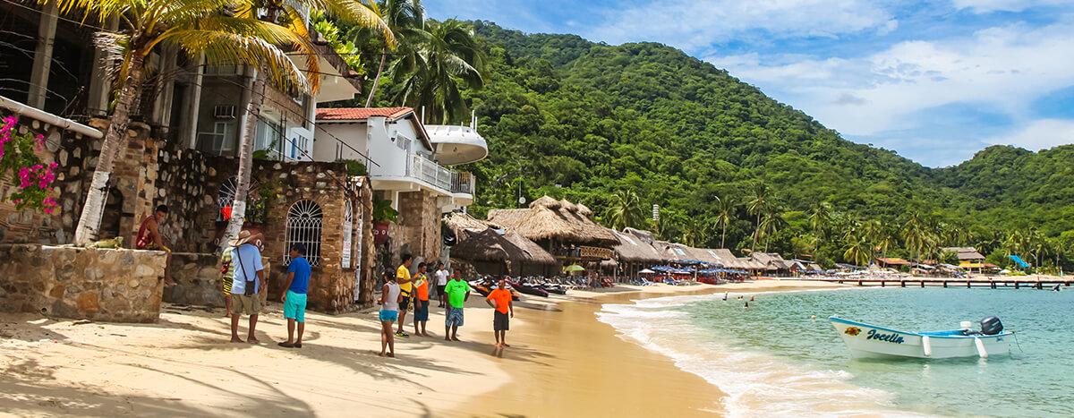 Subirte a una panga para visitar playas